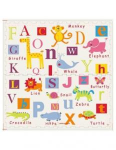 Covoras de joaca Puzzle mare Fructe si litere  - Litere si Animale3