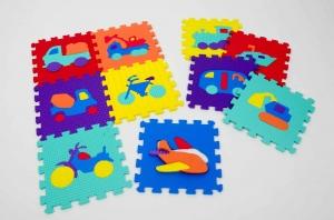 Set puzzel 10 piese cu vehicole - Covoras puzzle vehicole [1]