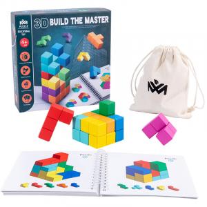 Cuburi lemn de construit 3D Puzzle0