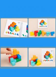 Cuburi lemn de construit 3D Puzzle4
