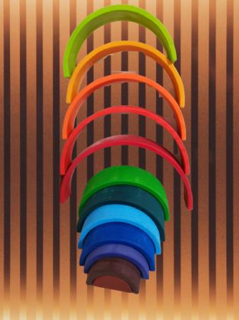 Curcubeu Mare din lemn 12 piese13