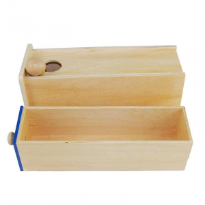 Joc Lemn  Educatia Montessori Cutia Permanentei cu sertar1