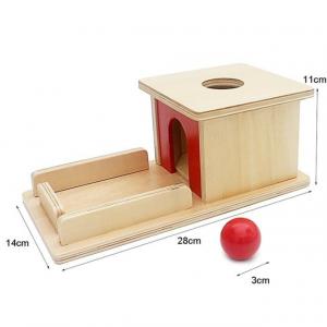 Joc de Lemn Montessori Cutia Permanentei cu bila5
