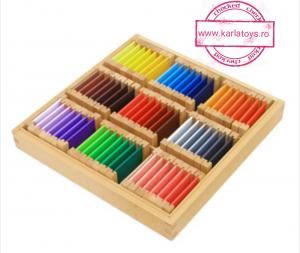 Cutiea de Culori Montessori  din Lemn - Tablete Multicolore4