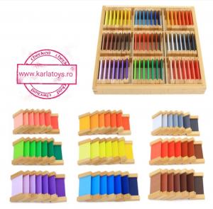 Cutiea de Culori Montessori  din Lemn - Tablete Multicolore1