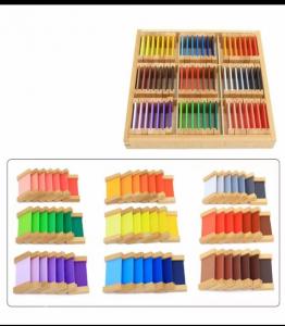 Cutiea de Culori Montessori  din Lemn - Tablete Multicolore10
