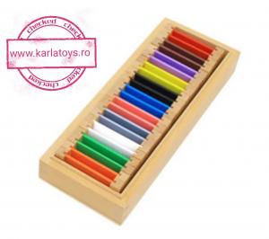 Cutiea de Culori Montessori  din Lemn - Tablete Multicolore3