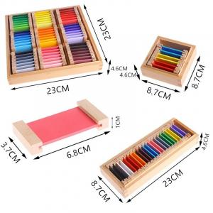 Cutiea de Culori Montessori  din Lemn - Tablete Multicolore8