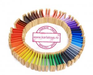 Cutiea de Culori Montessori  din Lemn - Tablete Multicolore6