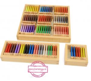 Cutiea de Culori Montessori  din Lemn - Tablete Multicolore0