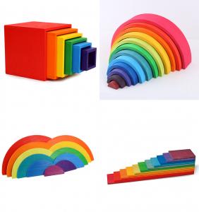 Montessori Rainbow Blocks - Placute Curcubeu 11 piese2