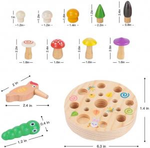 Joc din Lemn Montessori Magnetic Ciuperci de cules6