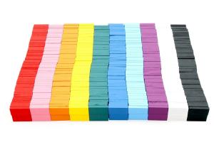 Joc de lemn Domino  cu piese colorate2