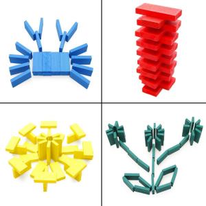 Joc de lemn Domino  cu piese colorate3