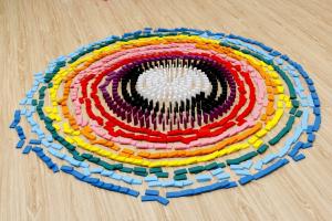 Joc de lemn Domino  cu piese colorate4