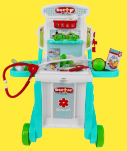 Set Trusa doctor 3 in 1 troler Little Doctor4