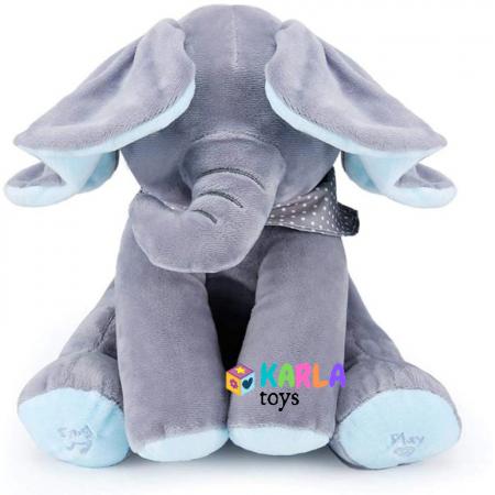 Elefantul Vorbitor Jucarie interactiva Elefantul Cucu bau Peek-a-boo1