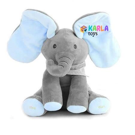 Elefantul Vorbitor Jucarie interactiva Elefantul Cucu bau Peek-a-boo0