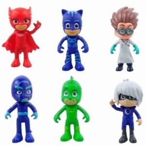 Set 6 figurine Eroii in Pijama pentru copii0