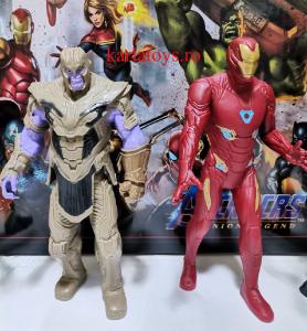 Set figurine tip Avengers Iron man Thanos Black Panther Siderman1
