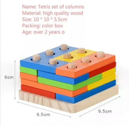 Forme geometrice colane sortare Tetris [5]