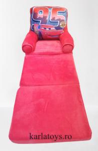 Fotoliu din plus extensibil pentru copii Cars Mcqueen 115 cm0