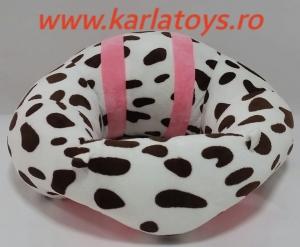 Fotoliu din plus bebe Sit Up  colorate roz cu inimioare14