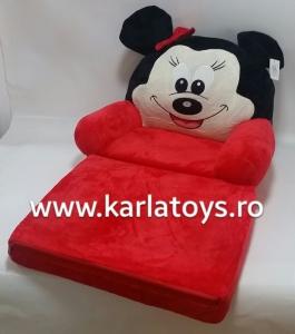 Fotoliu extensibil din plus Minnie Mouse  Rosu 80 cm [0]