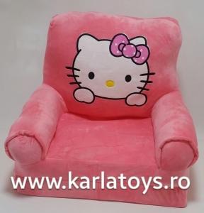 Fotoliu extensibil Hello Kitty din plus pentru copii [1]