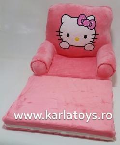 Fotoliu extensibil Hello Kitty din plus pentru copii [0]