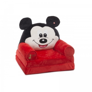 Fotoliu Extensibil XXL Mickey Mouse din plus 120 cm - Minnie Mouse2