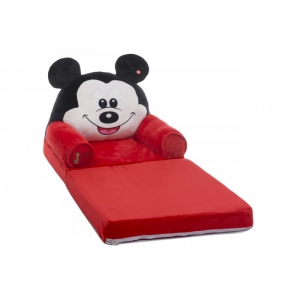 Fotoliu Extensibil XXL Mickey Mouse din plus 120 cm - Minnie Mouse1