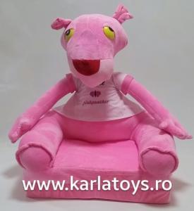 Fotoliu extensibil Pantera Roz din plus pentru copii 80 cm1