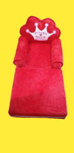 Fotoliu extensibil de plus Princess Rosu 100 cm0