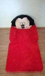 Fotoliu Extensibil XXL Mickey Mouse din plus 120 cm - Minnie Mouse6