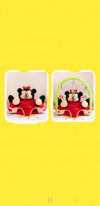 Fotoliu Plus Bebe sit up Mickey Mouse cu Jucarii - Fotoliu sit up cu Arcada Jucarii Minnie Mouse2