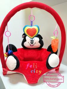 Fotoliu Plus Bebe sit up Mickey Mouse cu Jucarii - Fotoliu sit up cu Arcada Jucarii Minnie Mouse5