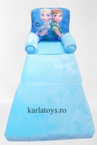 Fotoliu din plus extensibil Frozen  mare 115 cm Ana si Elsa [0]