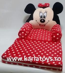 Fotoliu plus extensibil Minnie Mouse cu buline mare 120 cm [1]