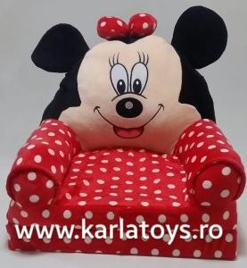 Fotoliu plus extensibil Minnie Mouse cu buline mare 120 cm [6]