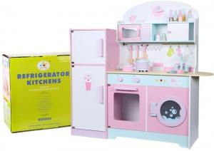 Set Bucatarie si frigider de lemn copii - Bucatarie din lemn Dubla5