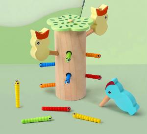 Joc de lemn Dexteritate Magnetic Copacul cu Pui0
