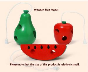 Joc de snuruit din lemn Fructe - Set 3 fructe de lemn3