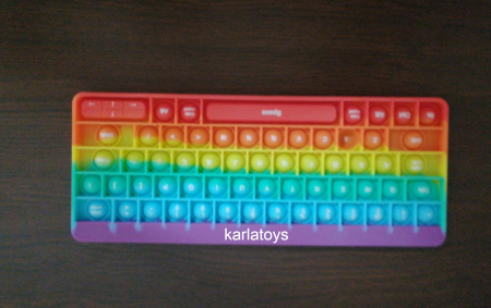 Joc antistres din silicon Pop it Tastatura Multicolora Keyboard [6]
