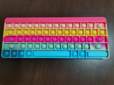 Joc antistres din silicon Pop it Tastatura Multicolora Keyboard [3]