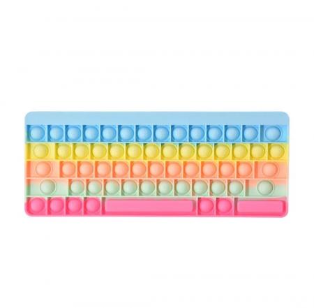 Joc antistres din silicon Pop it Tastatura Multicolora Keyboard [1]