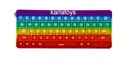 Joc antistres din silicon Pop it Tastatura Multicolora Keyboard [4]