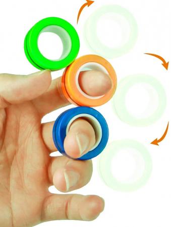 Set 3 buc Joc antistres Inel Magnetic - Magnetic Ring12