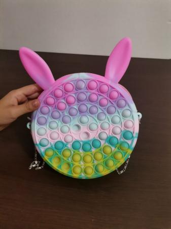 Joc Antistres Pop It din silicon Simple Dimple Geanta de umar [4]