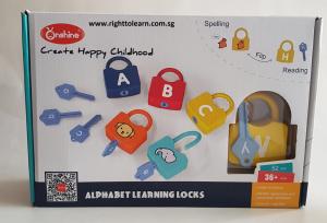 Joc copii Lacate si Litere - Set chei copii Alfabet si Imagini Onshine2